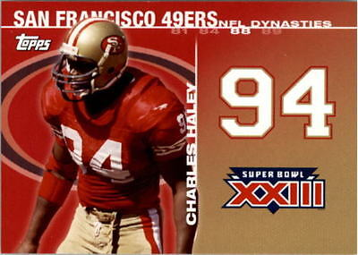 2008 Topps Dynasties Tribute Charles Haley San Francisco 49Ers