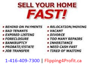 Do you need TO SELL your property in Sarnia FAST?
