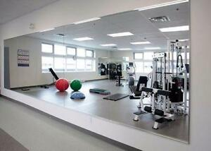 MIRRORS-MIRRORS-MIRRORS- FITNESS STUDIO MIRRORS -5mm x 4' x 6' M