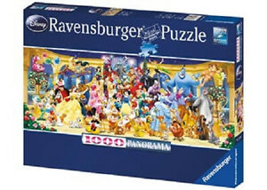 RAVENSBURGER Disney Characters Panorama 1000 pc Puzzle NEW jigsaw