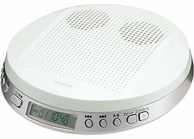 Toshiba CD Portátil Reproductor (con Altavoz) TY-P2W (Blanco )【 Japón Doméstico