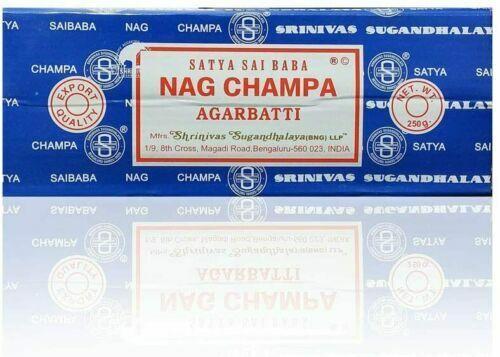 Satya Sai Baba Nag Champa Agarbatti Incense Sticks Box 250gms Hand Rolled