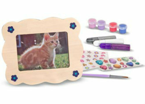 Melissa & Doug Wooden Picture Frame Decorate-Your-Own MND3099
