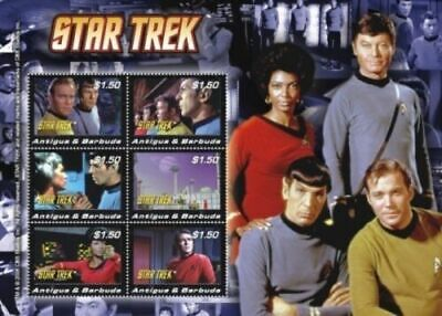 Star Trek - Antigua  2008 - Miniature Sheet - MNH