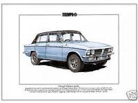 TRIUMPH DOLOMITE SPRINT CAR ART PRINT PICTURE PERSONALISE IT! SIZE A4
