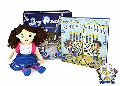 """(""""The Story of Funukkah"""" Girl Plush Doll and Book Set – A Hanukkah Tradition)"""