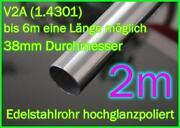 Edelstahlrohr 38