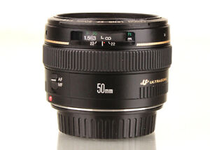 Used Canon 50mm f1.4