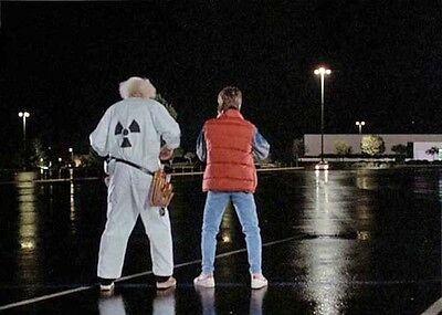 Short Slv BACK TO FUTURE DOC BROWN Hi Qual Radiation JUMPSUIT COSTUME Halloween