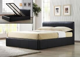 💞🔥💕100% BEST PRICE GUARANTEED💞💕New DOUBLE & KING Gas Lift Storage Ottoman Leather Bed +Mattress