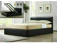 🔵💖🔴WAIT OVER SALE IS ON🔵💖🔴SINGLE/DOUBLE SIZE LEATHER STORAGE BEDS wDIFF OPTIONAL MATTRESSES