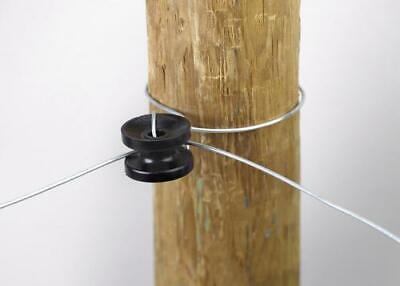 Dare 1752-10 High Strain Corner End Insulator 10-count Black