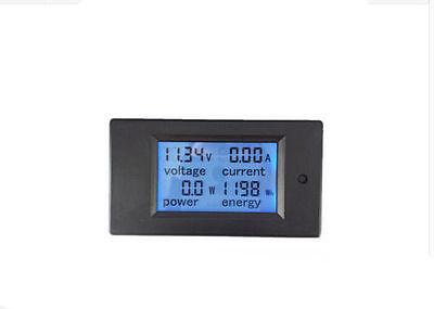 Dc 100a Lcd Volt Current Kwh Watt Panel Power Meter Ammeter Voltmeter Multimeter