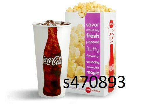 Купить AMC - AMC Large Popcorn and Large Fountain Drink expires 6/30/2020 fast e-delivery