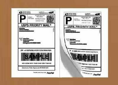 Shipping Labels Half Sheet Self Sticker Paper Laser Inkjet Printers 200 Count.