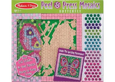 Melissa and Doug * Peel & Press Mosaics Butterfly * NEW design activity toy