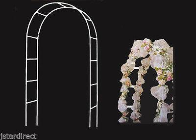 Metal Garden Arch for Wedding Prom In & Outdoor Decorative 7.5 feet / 90