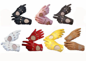 Genuine Leather Men's Women Unlined Driving Gloves