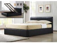 💗🔥MODERN GAS LIFT HYDROLIC SYSTEM💗🔥BRAND NEW Double Storage Ottoman Leather Bed +MEMORY Mattress
