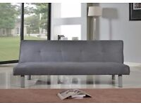 Faux Suede Canterbury Fabric Sofa Bed 3 Seater (Grey, Good condition)