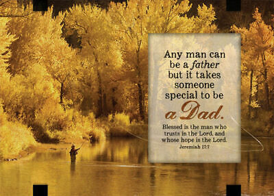 Glass Easel backed Plaque - Windows Series. Dad / Jeremiah 17:7 - G6804