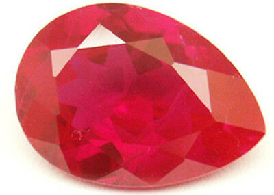 18.5x13 mm 14 cts Pear cut  Diffusion lab created Ruby