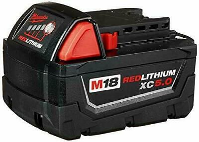 Milwaukee 48-11-1850 M18 Redlithium 5.0ah Bat Pack Of 1 Black Red