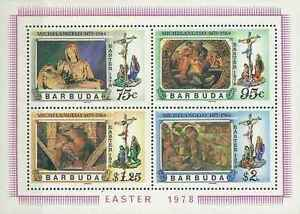 Timbres Religion Paques Barbuda BF30 ** lot 19378 - France - Timbres neufs en bloc feuillet - France