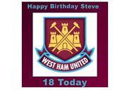 West Ham Cake Topper