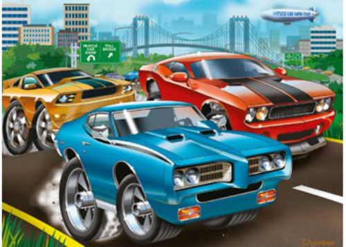 Ravensburger Muscle Cars 60 Piece Jigsaw Puzzle