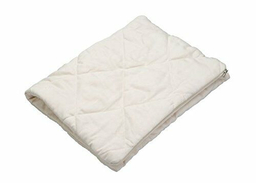 Greenbuds Organic Cotton Quilted Pillow Cover  - Ivory (Natural White) - NEW