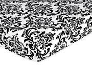 Black and White Crib Sheet