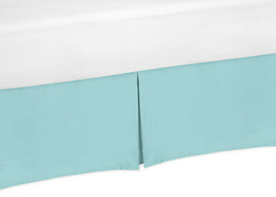 Sweet Jojo Designs Turquoise Toddler Bed Skirt for Modern Em