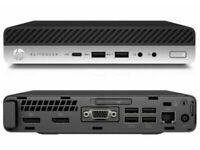 MINI WORKSTATION HP ELITEDESK G3-i7 Quad 16GB RAM 512 SSD DESKTOP PC MONITOR triple display computer