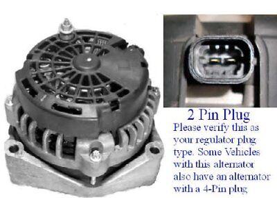 253 AMP Alternator CHEVY GMC 2007 To 2011 ALL Models 2 Pin Yukon Hummer Tahoe