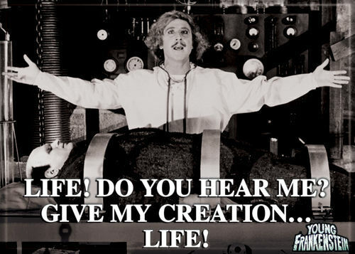 """Young Frankenstein Photo Quality Magnet: """"Life! Do You Here Me .... Life!"""""""