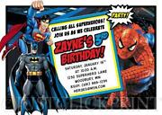 Superhero Invitations