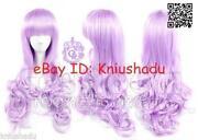 Long Light Purple Wig