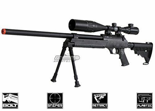 Sturdy Full Metal ASR Bolt Action Sniper Rifle for Standard Bipod Picatinny Rail