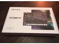 ARTURIA DRUMBRUTE ANALOG DRUM MACHINE WITH POWER SUPPLY, BOXED. GREAT CONDITION