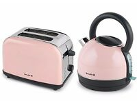 Pink Breville Kettle and Toaster set