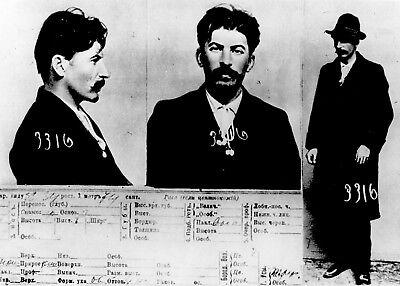 1911 Joseph Stalin Mug Shot PHOTO Soviet Union Russian Dictator Communist Party