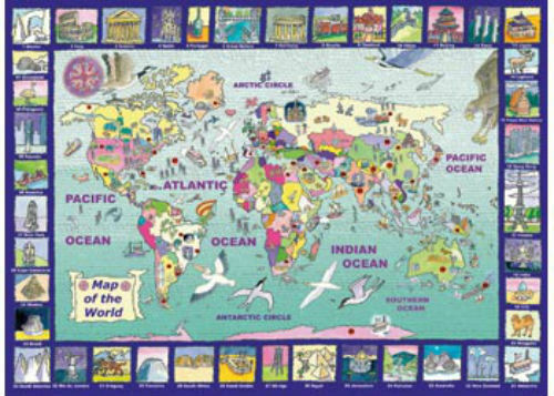 Ravensburger 300 XXL piece Looking at the World Jigsaw Puzzle