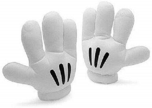 Cartoon Mouse Gloves Mickey Fancy Dress Costume Accessory
