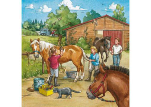 Ravensburger A Day with Horses 3 x 49 Piece Jigsaw Puzzles RB09237-6