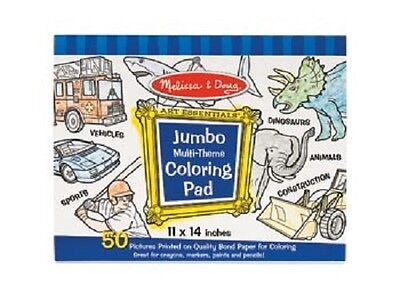 Melissa and Doug * Jumbo Colouring Pad Blue * NEW arts & craft activity toy