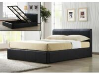 6K Furniture Brand NEW small double STORAGE kingsize Leather OTTUMAN Bedding BASE