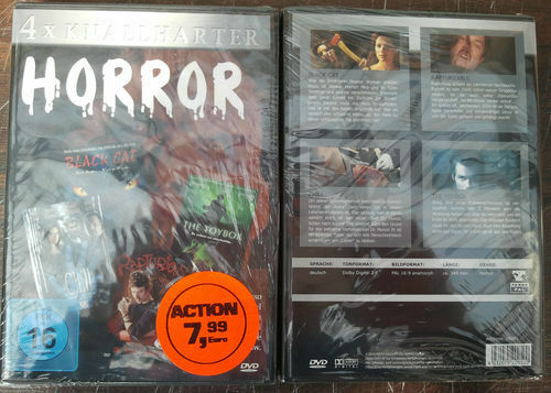 4x Knallharter Horror in einer Doppel-DVD Box - Neu OVP Sealed