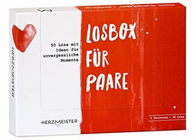 NEU Losbox für Paare I Das Paar-Geschenk für 50 unvergessliche Momente I 50