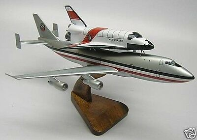 B-747 Moonraker James Bond 007 Airplane Wood Model Small New